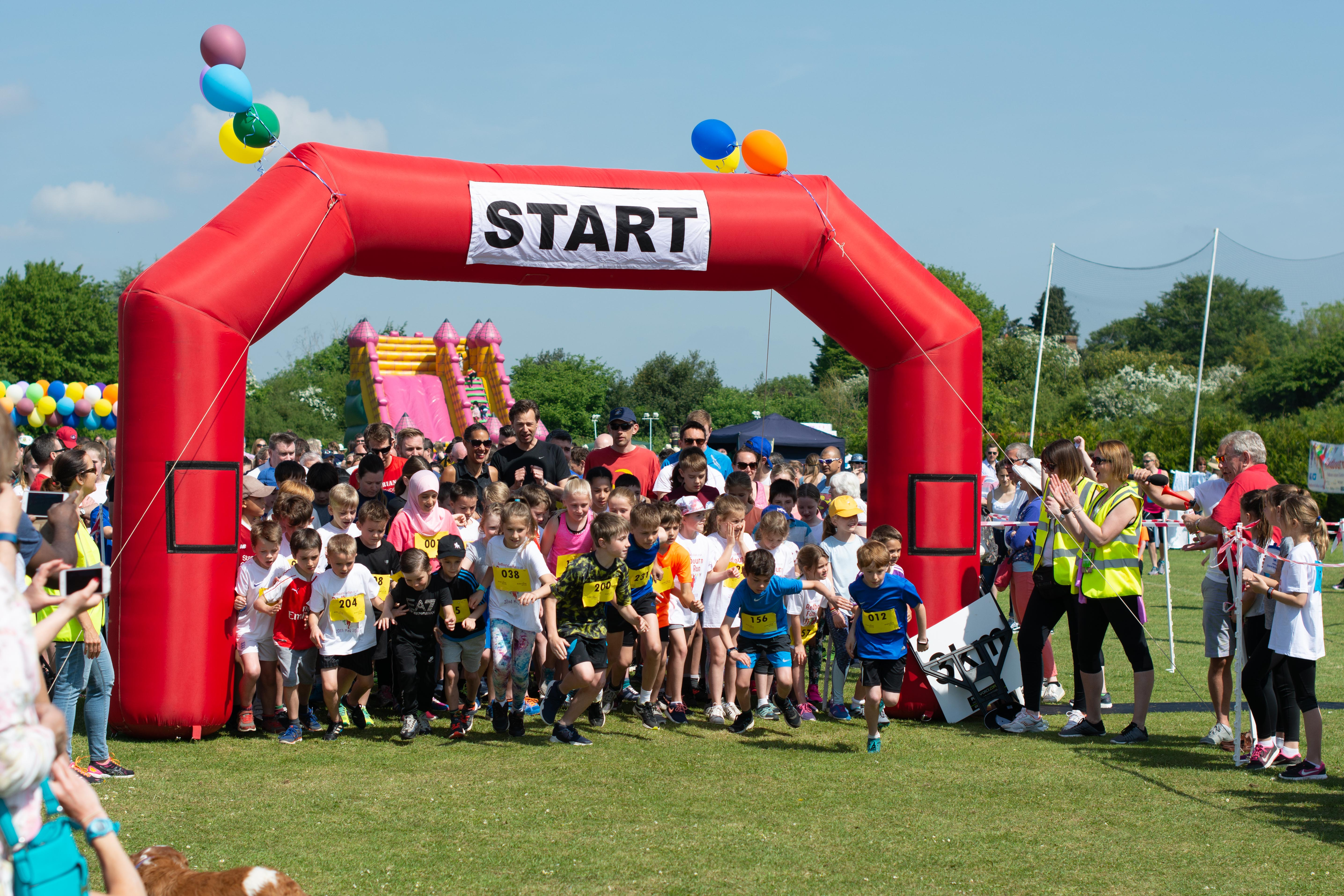 The start line at the Redbourn Fun Run 2018